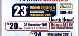 Jadwal Umroh dan Harga Tourindo Global Mandiri Terbaru 2019